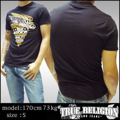 トゥルーレリジョン メンズ TRUE RELIGION Tシャツ ブラック 110 tシャツ 半袖 シャツ セレブ 愛用 ブランド ファッション アメカジ インポート カジュアル