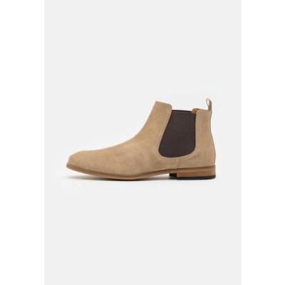ザイン メンズ 靴 シューズ LEATHER - Classic ankle boots - sand