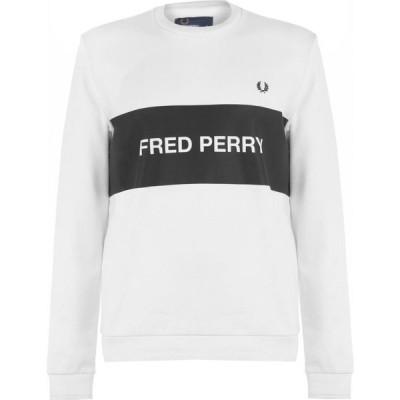 フレッドペリー Fred Perry メンズ ポロシャツ トップス Chest Panel Sweatshirt White