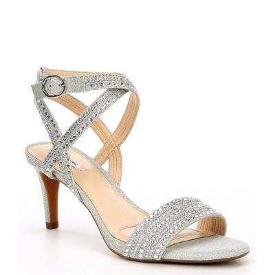 アレックスマリー レディース サンダル シューズ Parlyn Glitter Rhinestone Strappy Sandals Silver
