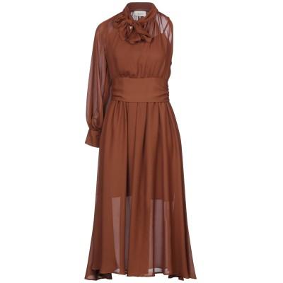 VICOLO 7分丈ワンピース・ドレス ココア S ポリエーテル 100% 7分丈ワンピース・ドレス