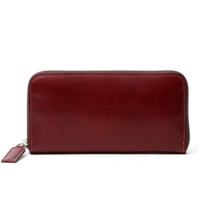 長財布 メンズ 本革 ラウンドファスナー レッド ワイン 赤色 財布 レザー 日本製 レディース 大容量 サイフ 小銭入れあり ボーデッサン(BEAU DESSIN)