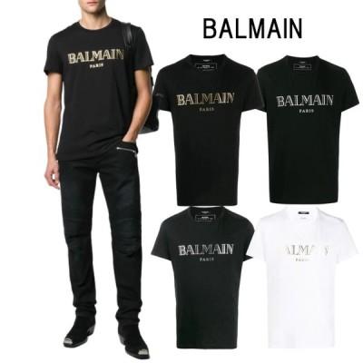 BALMAIN HOMME バルマン オム T-SHIRT BALMAIN A MANICHE CORTE CON LOGO BLACK / WHITE / BLACK GOLD / BLACK SILVER ブラック ホワイト ブラックゴールド ブラ