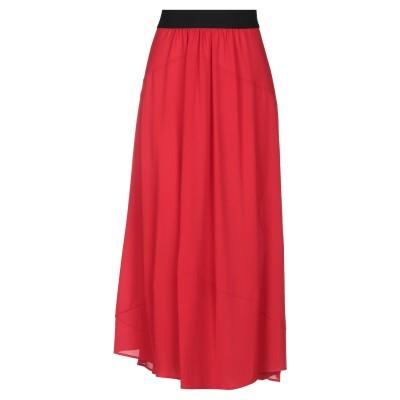 マリア・カルデラーラ MARIA CALDERARA 7分丈スカート レッド II ポリエステル 96% / ポリウレタン 4% 7分丈スカート
