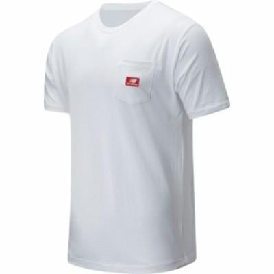 ニューバランス NEW BALANCE メンズ Tシャツ ポケット トップス Athletics Pocket T-Shirt White