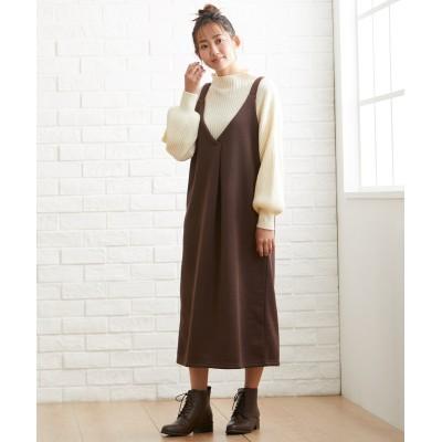 大きいサイズ 裏起毛ジャンパースカート ,スマイルランド, ワンピース, plus size dress