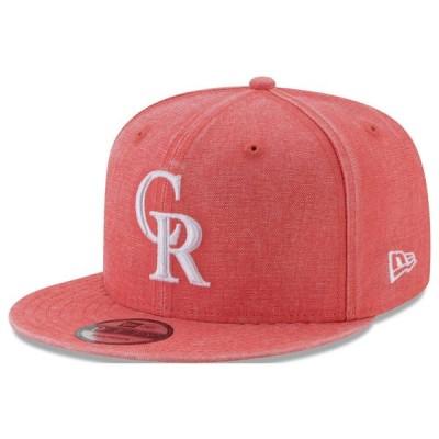 ロッキーズ キャップ ニューエラ NEW ERA  MLB パステルカラー ネオンタイム スナップバック オレンジ