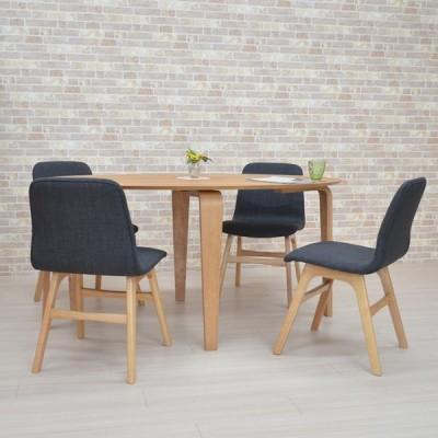 ダイニングテーブルセット 楕円 幅150cm marut150-5-pani339naok ダイニングセット ナチュラルオーク色/NA-OAK DGY色 4人 お客様組立品 22s-6k