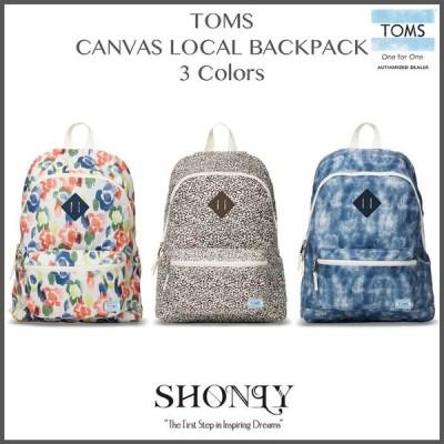 《TOMS正規代理店》全3色 TOMS CANVAS LOCAL BACKPACK トムス バックパック リュック メンズ レディース ユニセックス