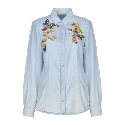 PEPE JEANS デニムシャツ  レディースファッション  トップス  シャツ、ブラウス  長袖 ブルー