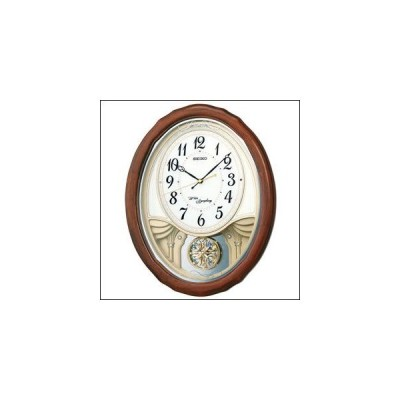 SEIKO セイコー クロック AM257B 掛け時計 振り子時計 スワロフスキー 電波時計