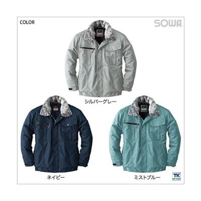 sowa(ソーワ) 防寒ブルゾン 綿100% PROTECT WINTER 防寒ジャンパー sw-5403 ネイビー LL