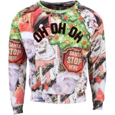 イレブン パリ Eleven Paris レディース ニット・セーター トップス Holiday Ho Ho Ho Mirrored Sweater red/print