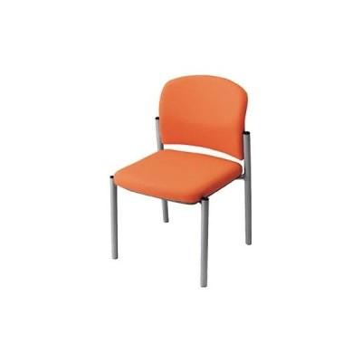 ナイキ   会議用チェアー 肘なし 布 オレンジ  E248FOR