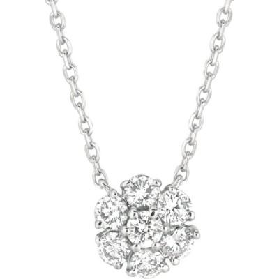 モリス アンド デビッド Morris & David レディース ネックレス ジュエリー・アクセサリー 1.0 tcw diamond and 14k white gold necklace シルバー
