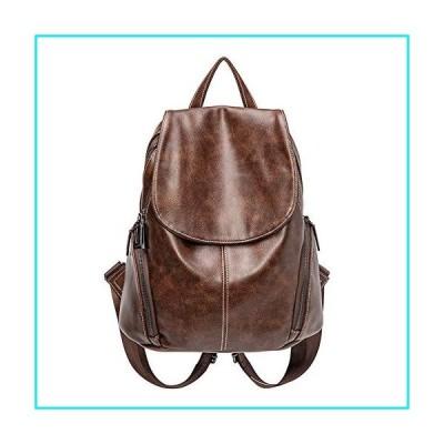 Fenrs Women Backpack Purse,Women Waterproof PU Washed Leather Backpack Leather Backpacks for Teenage Girls Female School Fashion Shoulder Bag Backpack