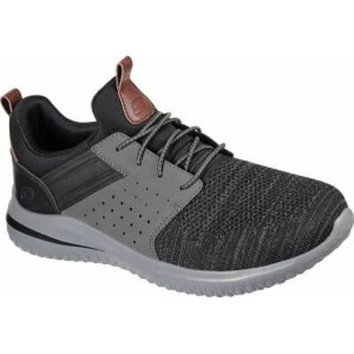 スケッチャーズ メンズ スニーカー シューズ Men's Skechers Delson 3.0 Cicada Sneaker Black/Gray