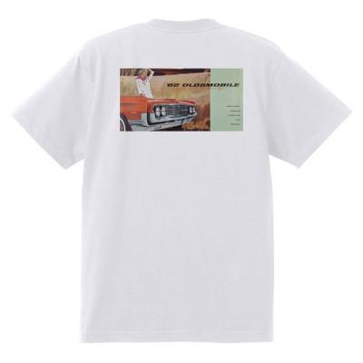 アドバタイジング オールズモビル 601 白 Tシャツ 黒地へ変更可  1962 スターファイア カトラス 98 88 ダイナミック スーパー ホットロッド