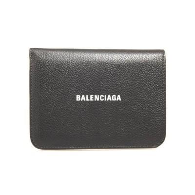バレンシアガ BALENCIAGA 財布 レディース ニつ折り財布 ブラック CASH MEDIUM WALLET 594205 1IZ4M 1090 BLACK/L WHITE