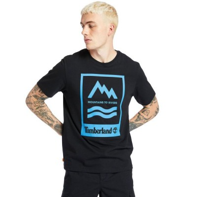 tシャツ Tシャツ メンズ 半袖 マウンテン トゥ リバー グラフィック Tシャツ