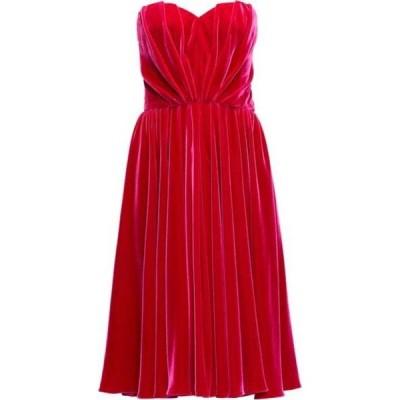 ドルチェ&ガッバーナ Dolce & Gabbana レディース パーティードレス ワンピース・ドレス Strapless velvet dress Fuchsia pink