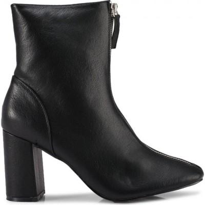 グラマラス Glamorous レディース ブーツ シューズ・靴 High Cut Block Heel Boots Black