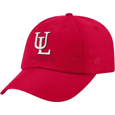トップオブザワールド Top of the World メンズ キャップ 帽子 Louisiana-Lafayette Ragin' Cajuns Red Staple Adjustable Hat