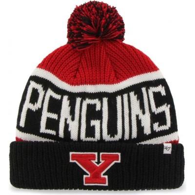 フォーティセブン 47 メンズ ニット 帽子 Youngstown State Penguins Red Calgary Cuffed Knit Hat