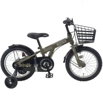幼児用自転車 JEEP JE-16G (オリーブ) ジープ JE 16 2020 子供用自転車 キッズバイク
