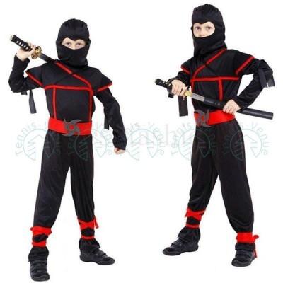 ハロウィン 衣装 忍者  コスチューム 仮装 キッズ 男の子 子供  ダンス衣装 舞台服 万聖節 仮装110 120 130 140 スパイ しのび