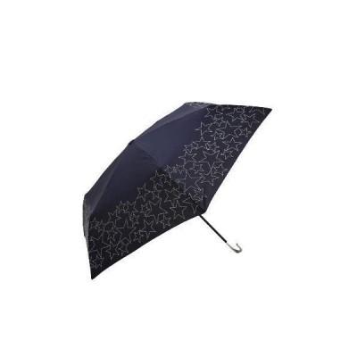 [ アフタヌーンティー リビング ] AfternoonTea LIVING 折りたたみ傘 スター ステッチ 晴雨兼用 折りたたみ傘 雨傘