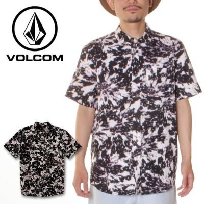 SALE セール VOLCOM ボルコム シャツ メンズ volcom シャツ 半袖 メンズ半袖シャツ 柄シャツ 総柄 柄 2021年春夏  STRIVER SS A0412105