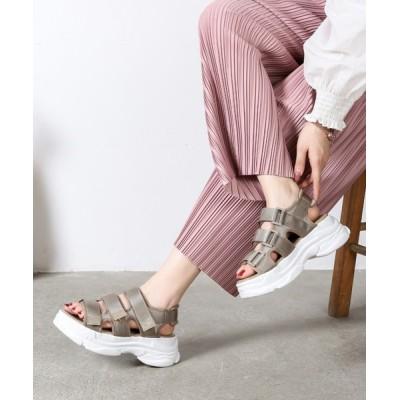 Shoes in Closet -シュークロ- / ☆ボリューム軽量ソール☆ベルクロ 厚底スポーツサンダル《約6.5㎝ソール》 7485WB WOMEN シューズ > サンダル