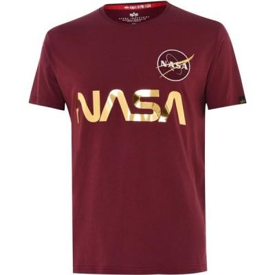アルファ インダストリーズ Alpha Industries メンズ Tシャツ トップス NASA Reflective Tee Burgundy