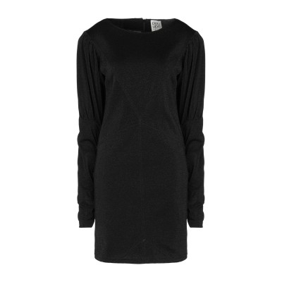 DOUUOD ミニワンピース&ドレス ブラック 40 コットン 62% / ナイロン 21% / ポリエステル 17% ミニワンピース&ドレス