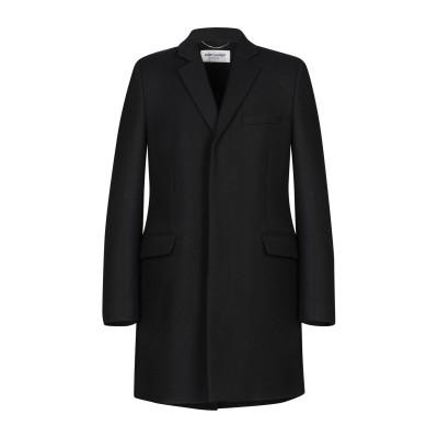 SAINT LAURENT コート ブラック 52 ウール 100% コート