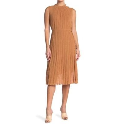 エム ミッソーニ レディース ワンピース トップス Textured Mock Neck Knit Midi Dress BISCOTTO