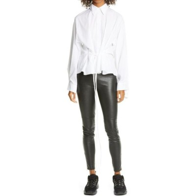 メゾン マルジェラ MM6 MAISON MARGIELA レディース ブラウス・シャツ トップス Tie Front Poplin Shirt White