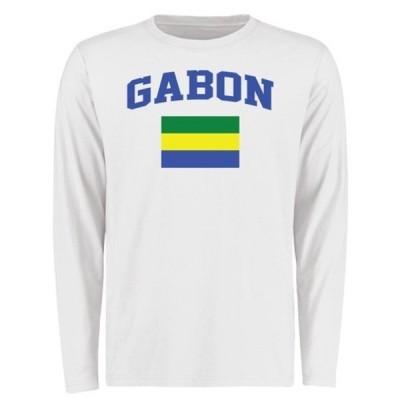 ファナティクス ブランデッド メンズ Tシャツ トップス Gabon Flag Long Sleeve T-Shirt