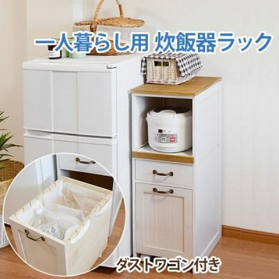収納 ラック 完成品 ラック 30 ダストワゴン すきま 炊飯器ラック スライド棚 棚 台所  MUD-50WS