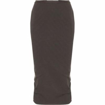 リック オウエンス Rick Owens レディース ひざ丈スカート スカート Cotton-blend jersey midi skirt Dark Dust