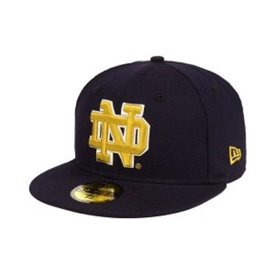 ニューエラ メンズ 帽子 アクセサリー Notre Dame Fighting Irish AC 59FIFTY-FITTED Cap Navy