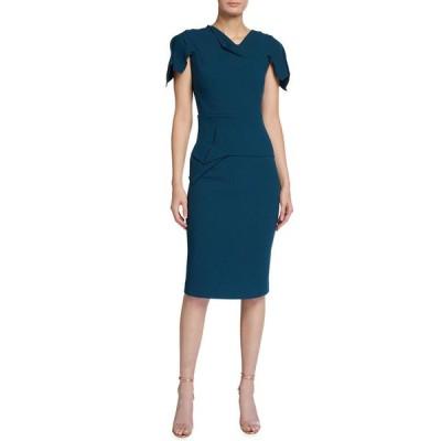 ローラン・ムレ レディース ワンピース トップス Vernon Asymmetric Wool Crepe Sheath Dress