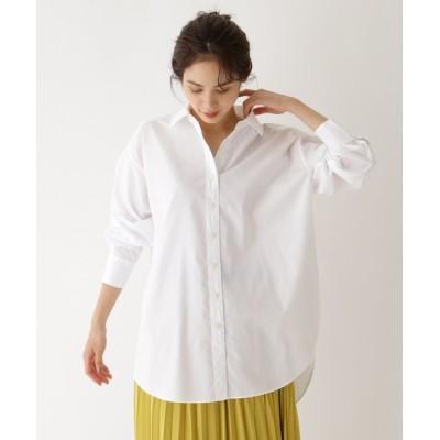 aquagirl / 【洗える】ハイカウントオーバーシャツ WOMEN トップス > シャツ/ブラウス