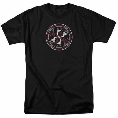 フォックステレビ ドラマ Tシャツ トップス ウエア American Horror Story Coven Serpent Sigil オフィシャル ライセンス アダルト Tシャツ