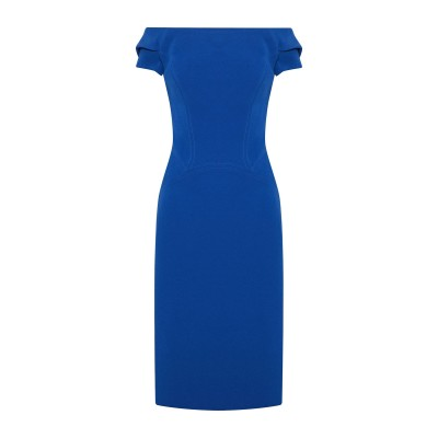 ZAC POSEN ミニワンピース&ドレス ブルー 2 アセテート 80% / ポリエステル 20% ミニワンピース&ドレス
