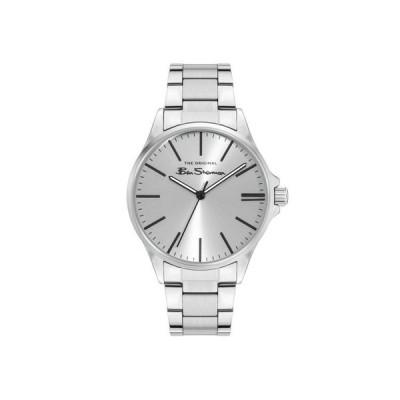 ベンシャーマン メンズ 腕時計 アクセサリー Men's Three Hands Silver-Tone Stainless Steel Bracelet Watch 41mm