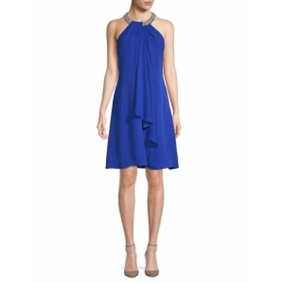カルバンクライン レディース ワンピース Embellished Chiffon Dress