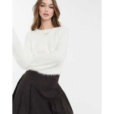 ブレーブソウル レディース ニット&セーター アウター Brave Soul waltz fluffy sweater Cream