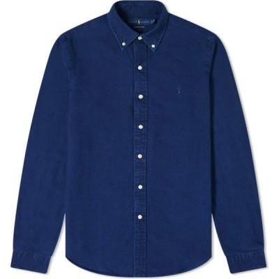 ラルフ ローレン Polo Ralph Lauren メンズ シャツ トップス button down custom fit oxford shirt Indigo